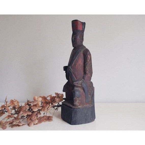 Primitive Chinese Wooden Folk Art Sculpture For Sale In Saint Louis - Image 6 of 7