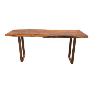 Hand Crafted Bob Baker Rainbow Eucalyptus Wood + Metal Coffee Table For Sale