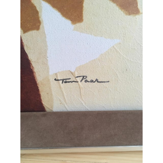 Abstract Large Mid-Century Abstract Mixed Media Collage by Tom Paar For Sale - Image 3 of 9