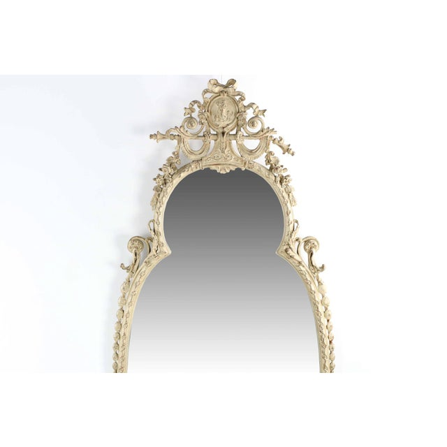 Adam's Style Cream Painted Wall Mirrors - A Pair - Image 5 of 10
