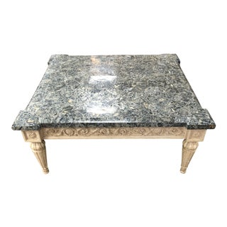 1970s Traditional Marge Carson Faux Marble Coffee Table For Sale