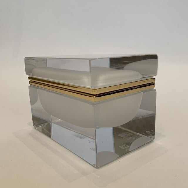 This elegant frosted crystal Murano box is a classic and timeless piece to add to your collection hand crafted by famed...