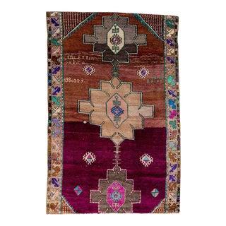 "Vintage Turkish Handmade Rug-5 '1"" x 8'3"" For Sale"