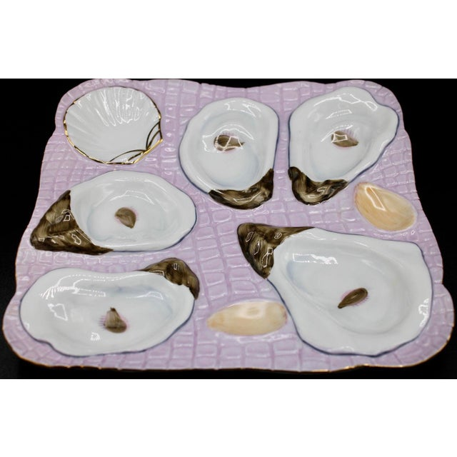 1960s 1960s Lavender Blush Oyster Plate For Sale - Image 5 of 10