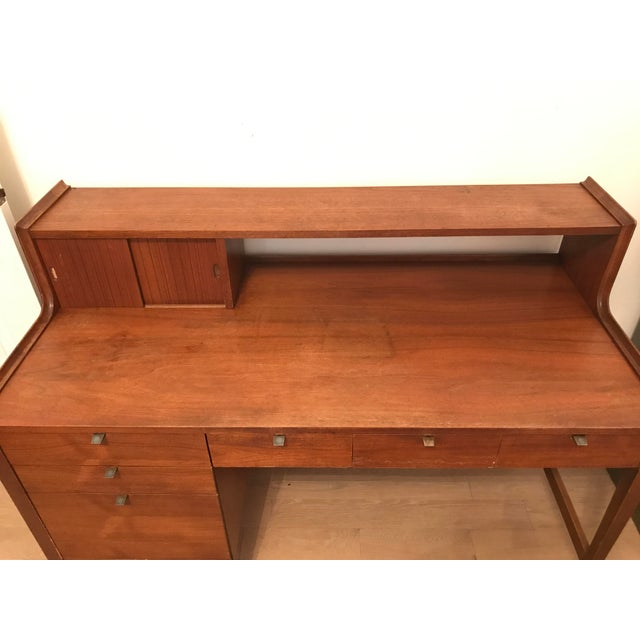 Cavalier Mid-Century Walnut Desk - Image 4 of 8