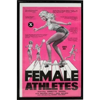 """Vintage Framed Movie Poster """"Female Athletes"""" For Sale"""