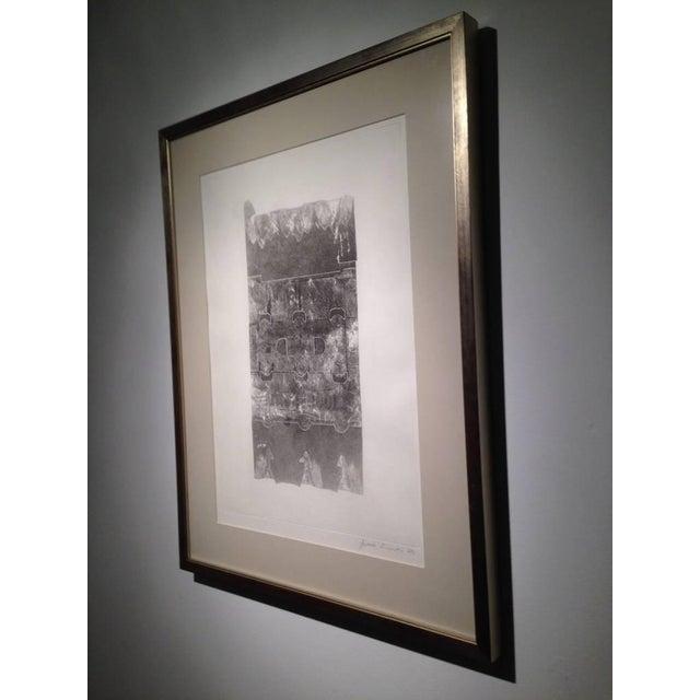 1970s Maria Simoni Original Framed Pressed Serigraph For Sale - Image 5 of 5