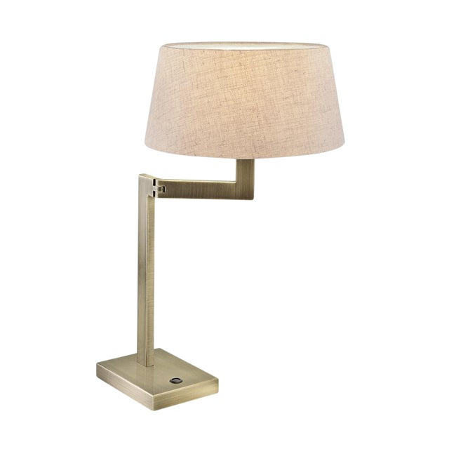 Brass Swing Desk Lamp For Sale