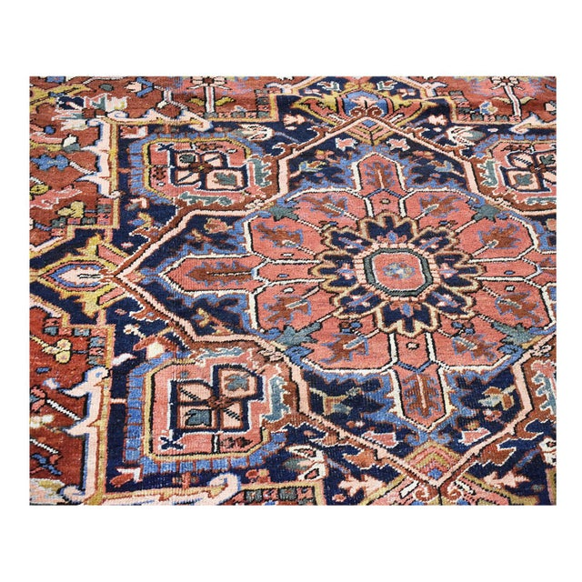 Antique Persian Heriz Rug - 9 x 11.10 - Image 9 of 9