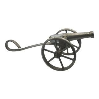 1970s Vintage Tabletop Steel Cannon Model For Sale