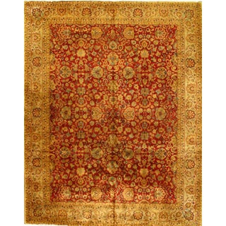 Fine Agra Hand-Knotted Rug - 8′1″ × 10′2″ For Sale