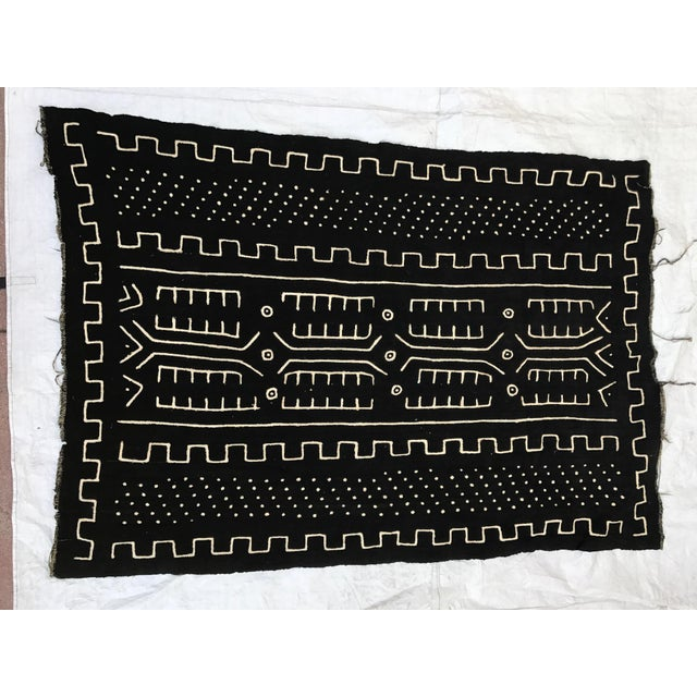 Cotton African Handmade Mud Cloth Tribal Design Textile For Sale - Image 7 of 9