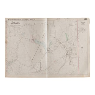 Vintage Hopkins Map of Town of Yorktown For Sale