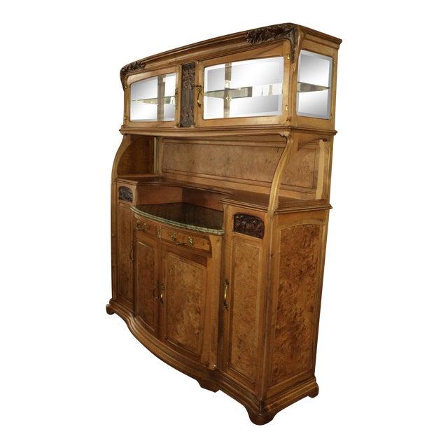 1913 French Art Nouveau Carpathian Elm Sideboard For Sale