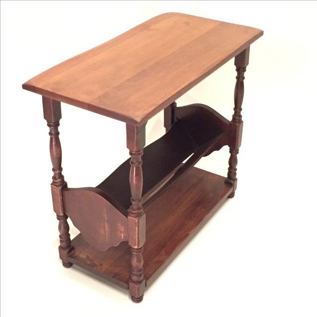 Vintage Walnut Bookshelf Side Table - Image 7 of 8