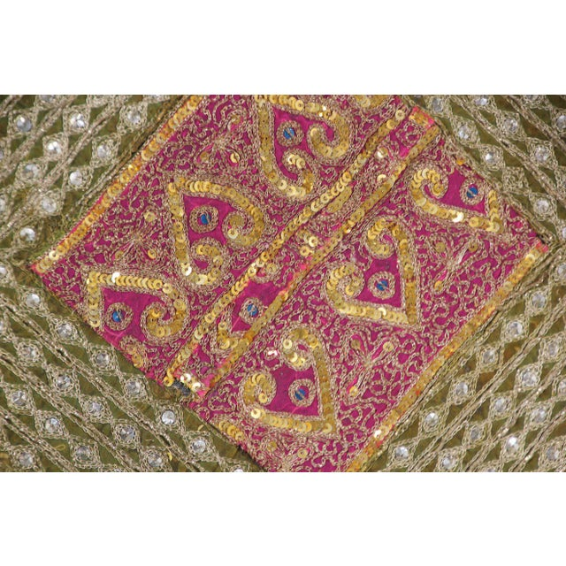Mughal Style Metal Threaded Tapestry Framed from Rajasthan, India For Sale - Image 11 of 13