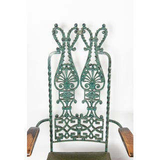 1970s Vintage Modecraft Verdigris Finish Metal Chairs- Set of 4 Preview