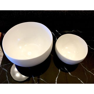 White Earthenware Bowls - A Pair Preview