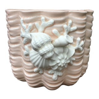 Fitz and Floyd Coral Shell Planter For Sale