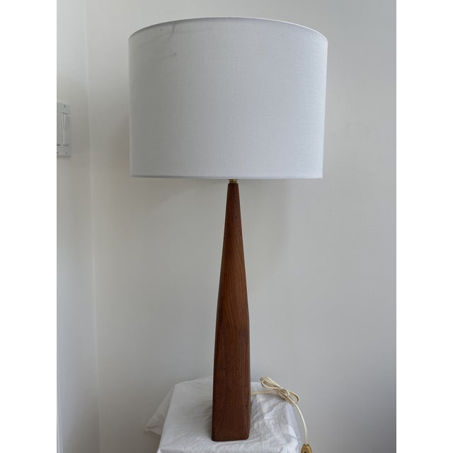 Sculptural Teak Table Lamp in the Style of Ernst Henriksen For Sale - Image 4 of 13