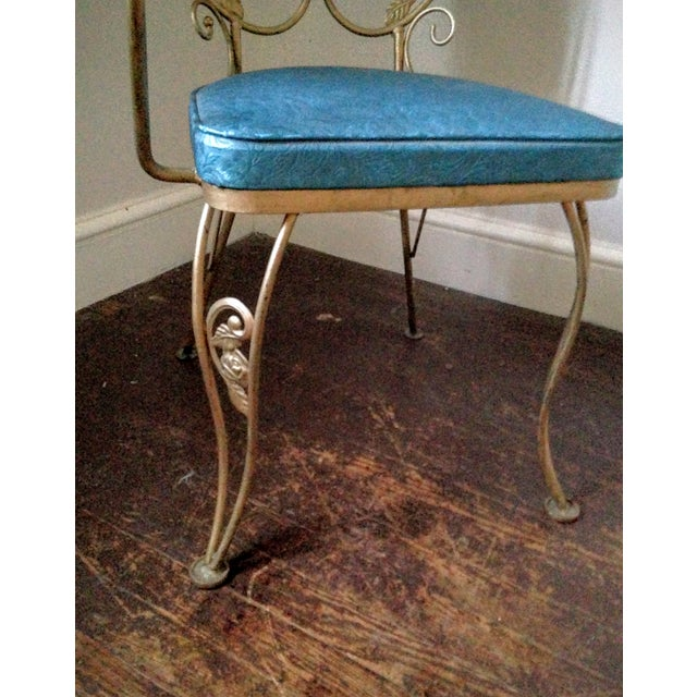 Mid Century Hollywood Regency Accent Chair - Image 9 of 11