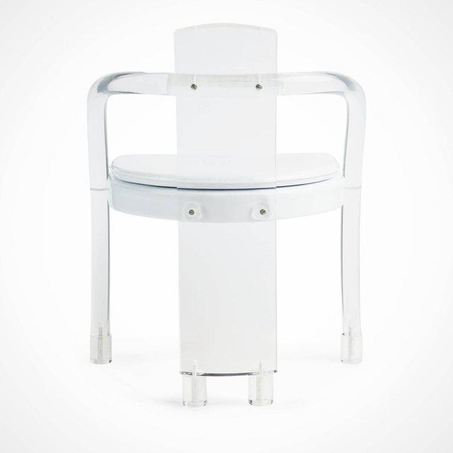 Lucite Hill Manufacturing Lucite Waterfall Armchairs - Set of 4 For Sale - Image 7 of 11