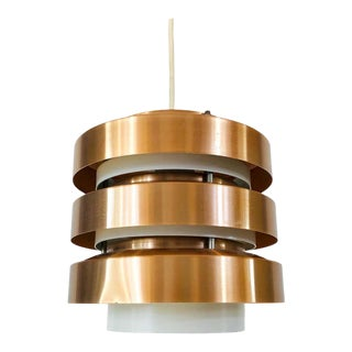 Rare Copper and Metal Pendant Lamp from DDR, 1960s For Sale