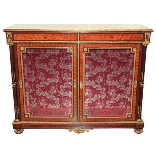 Exceptional 19th Century French Marquetry Cabinet For Sale