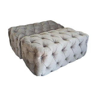 "Custom to Order ""Modern Tufting"" Collection Ottomans"