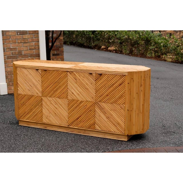 Vintage Split Bamboo Cabinet or Buffet For Sale - Image 4 of 10