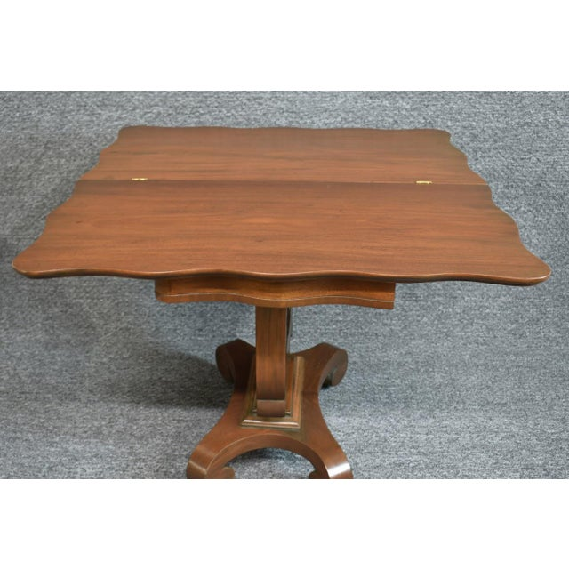Brown 19th Century American Empire Game Table Console Table For Sale - Image 8 of 12