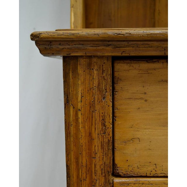 Brown Pine Two-Piece Open Rack Dresser For Sale - Image 8 of 8