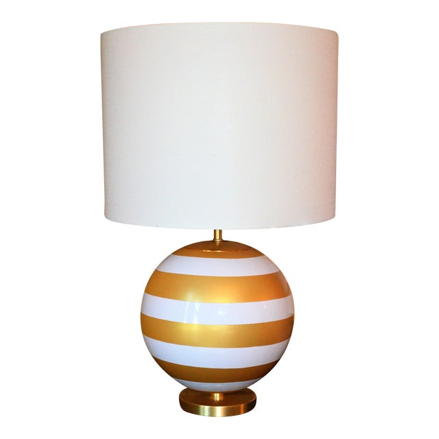 Gold & Cream Kate Spade Table Lamp For Sale