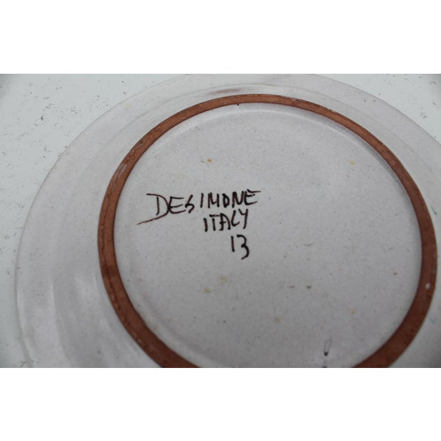 Ceramic Italian Desimone Decorative Plate For Sale - Image 7 of 7