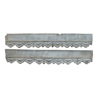 19th C. French Zinc Architectural Decoration, Pair. For Sale