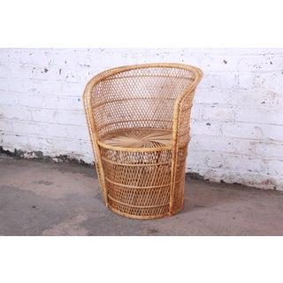 Petite Bohemian Wicker Peacock Chair, 1970s Preview