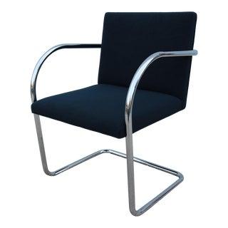 1960s Mid-Century Modern Mies Van Der Rohe Brno Tubular Side Chair For Sale