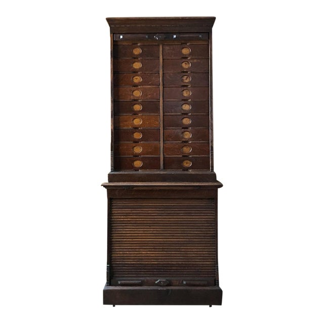 Antique Ambergs File Cabinet For Sale