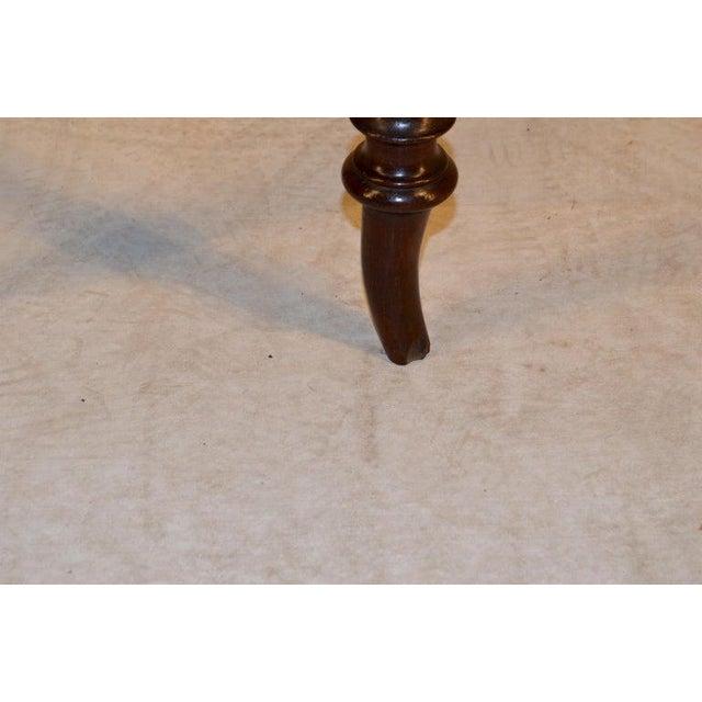 Mid 19th Century 19th Century English Mahogany Stool For Sale - Image 5 of 9