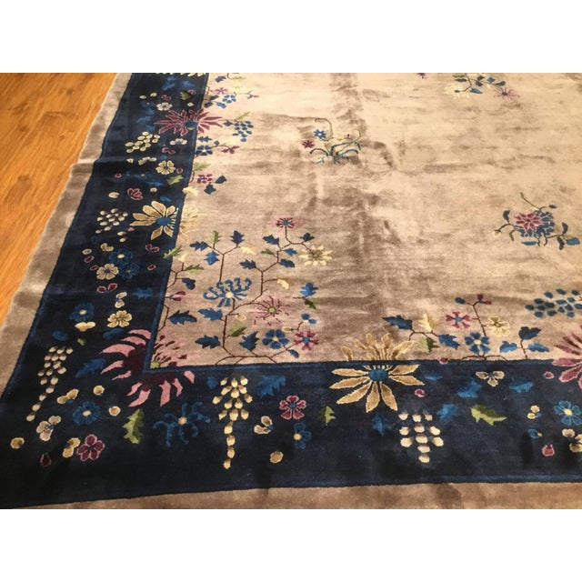 Antique Chinese Art Deco Rug - 10′2″ × 13′5″ - Image 4 of 6