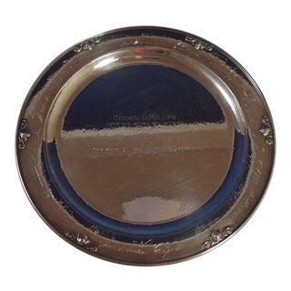 Acorn by Georg Jensen Sterling Silver Serving Platter Round #642c For Sale