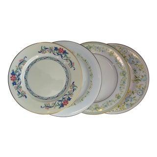 Vintage Mismatched China Plates - Set of 4