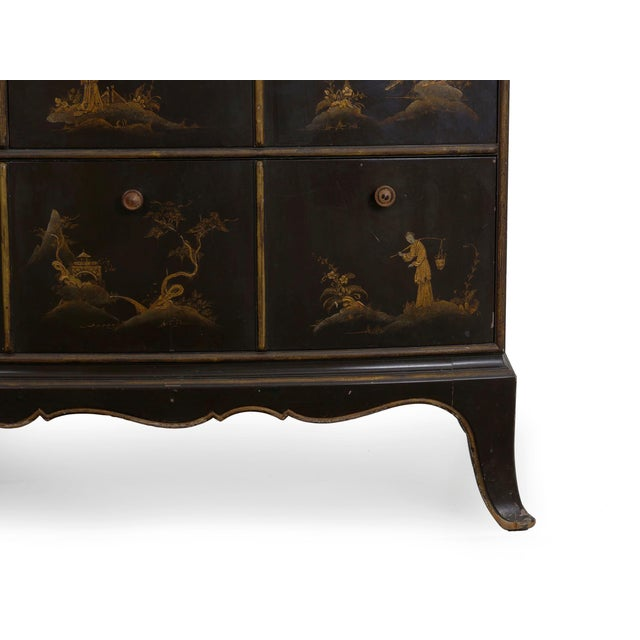 Art Deco Chinoiserie Mirrored Top Chest of Drawers Dresser Circa 1940s For Sale - Image 11 of 13