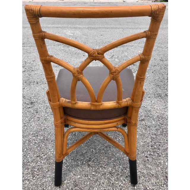 Boho Chic Bamboo & Leather Dining Chairs, S/12 For Sale - Image 3 of 11