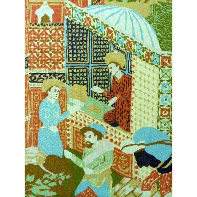 Large Vintage Fabric Room Divider - Image 5 of 6