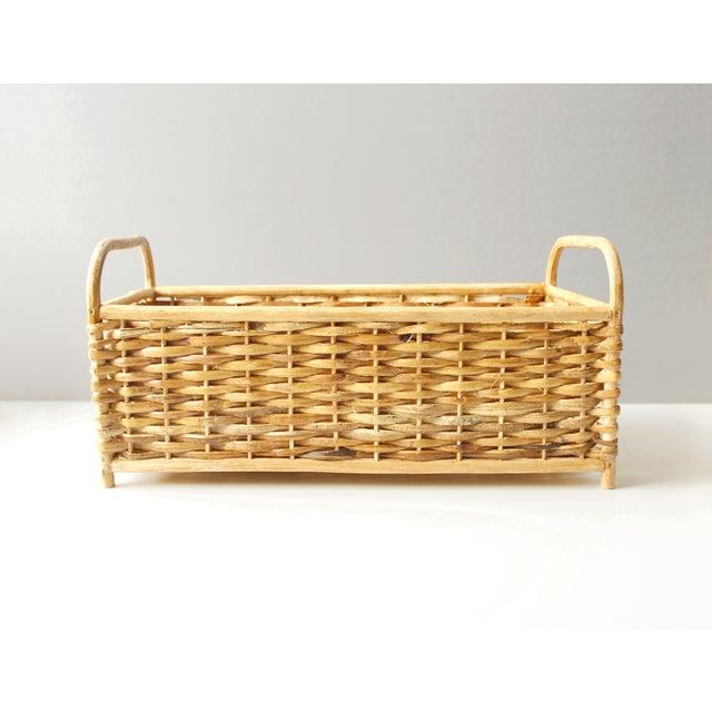 Vintage Rattan Basket or Planter - Image 2 of 5