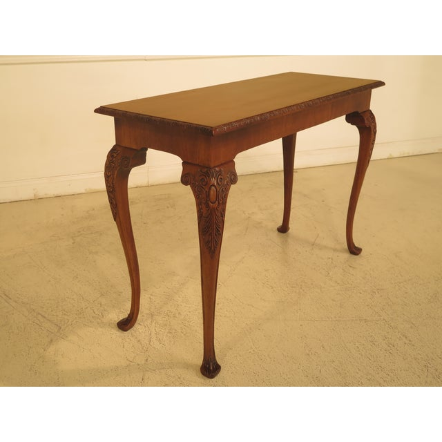 Wellington Hall Georgian Style Carved Mahogany Console Table - Image 2 of 11