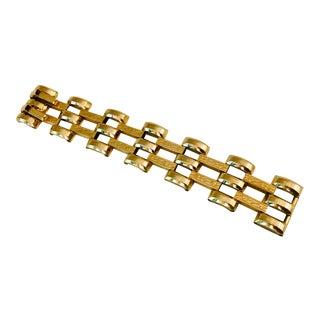 1940s 12 Karat Gold Filled Etched Link Bracelet For Sale