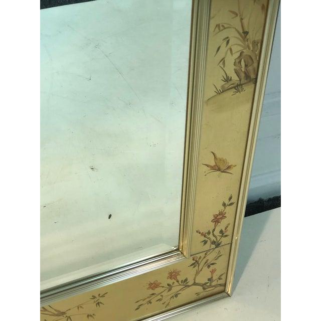 La Barge La Barge Hand Painted Gold Leaf Eglomise Mirror For Sale - Image 4 of 9