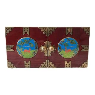 Late Twentieth Century Chinoiserie Style Bi-Fold Box - 4 Drawers For Sale
